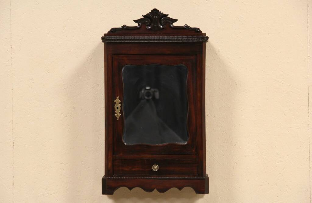 ... Hanging Cupboard or Countertop Miniature Rosewood 1890 Armoire eBay