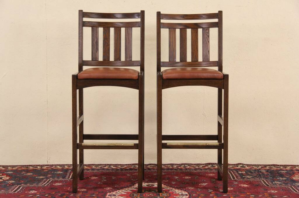 Sold Pair Of Arts Amp Crafts Mission Oak Style Vintage