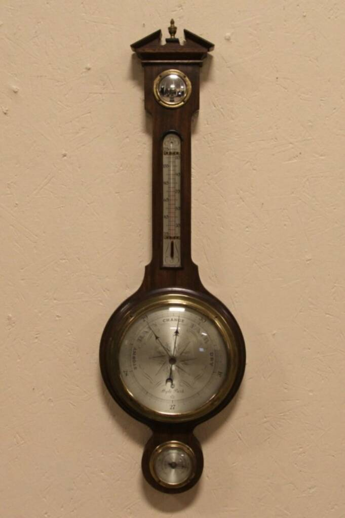 Sold Hyde Park English 1920 S Barometer Thermometer And
