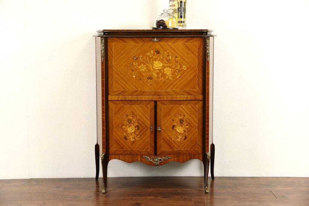 Sold Scandinavian Rosewood Marquetry 1950 Vintage