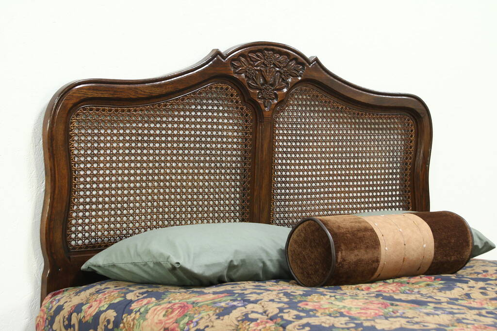 Sold Country French Oak Full Or Queen Size Bed Headboard