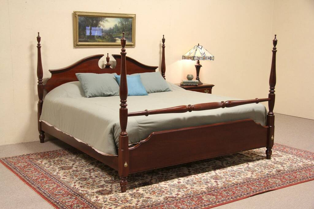 Sold Knob Creek Cherry 1992 King Size Poster Bed Harp