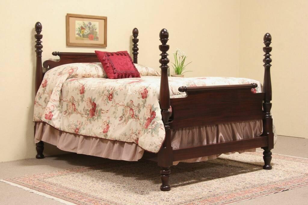berkey gay 1925 full size mahogany poster bed ebay