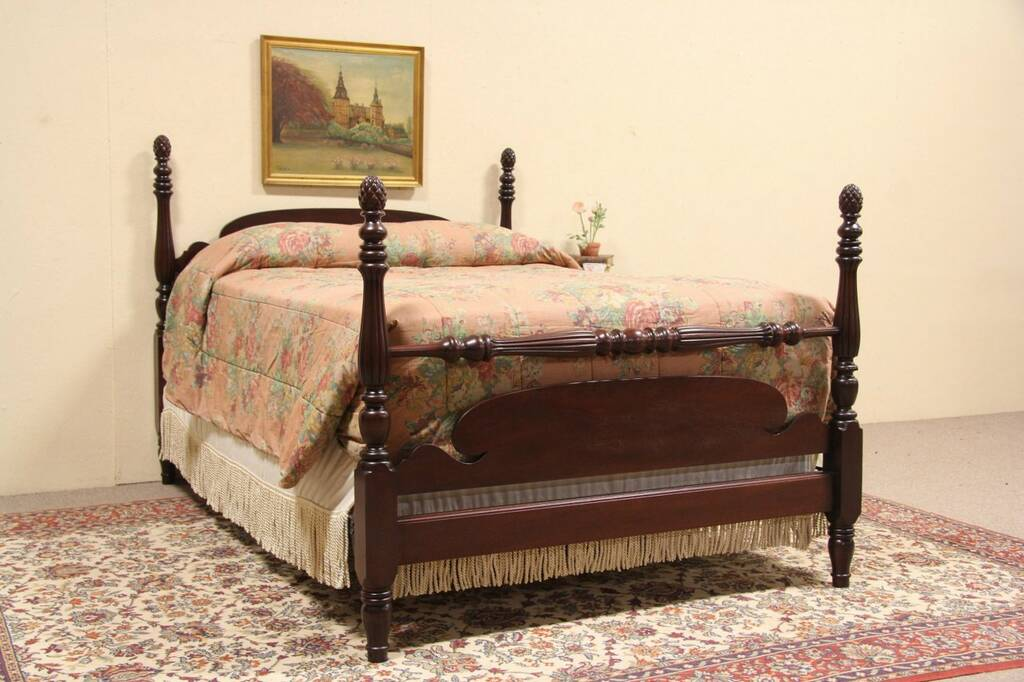 Pine Four Poster Double Bed