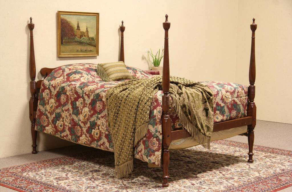 Sold Cherry Full Size Vintage Poster Bed Harp Gallery