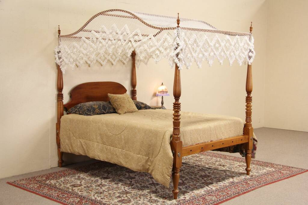 Sold Cherry 1840 Antique Queen Size Poster Bed