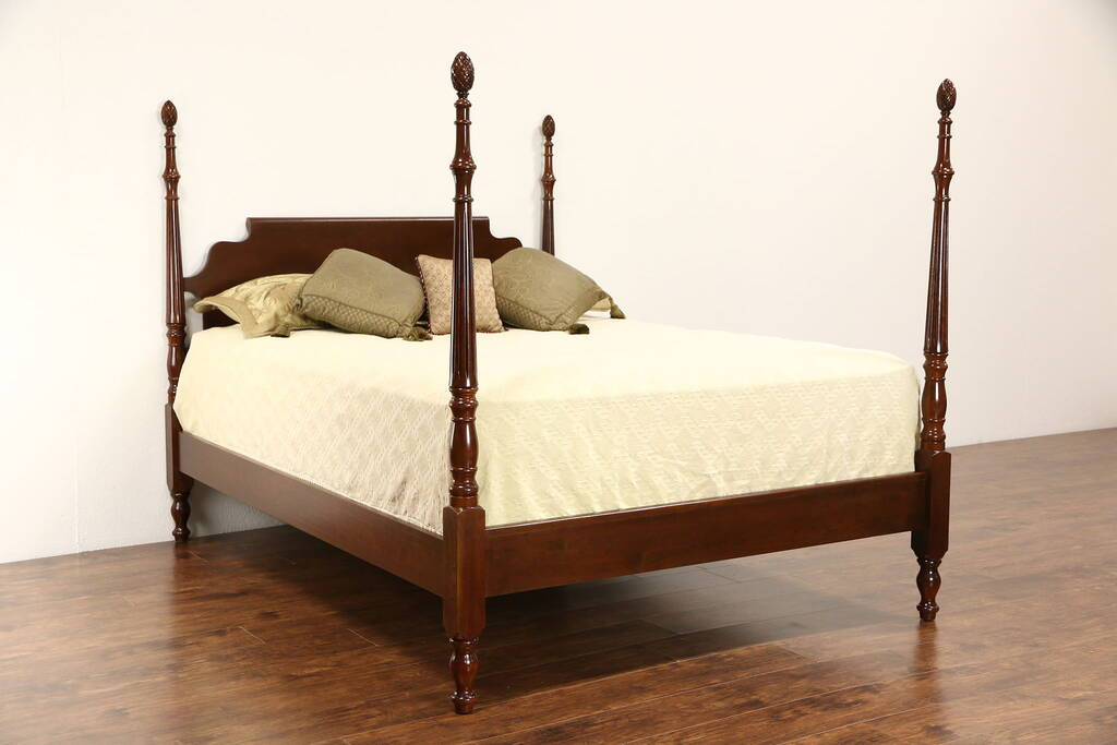 Cherry four poster full size bed