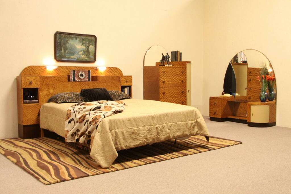 Details About Art Deco 1935 Queen Size Bedroom Set Denmark
