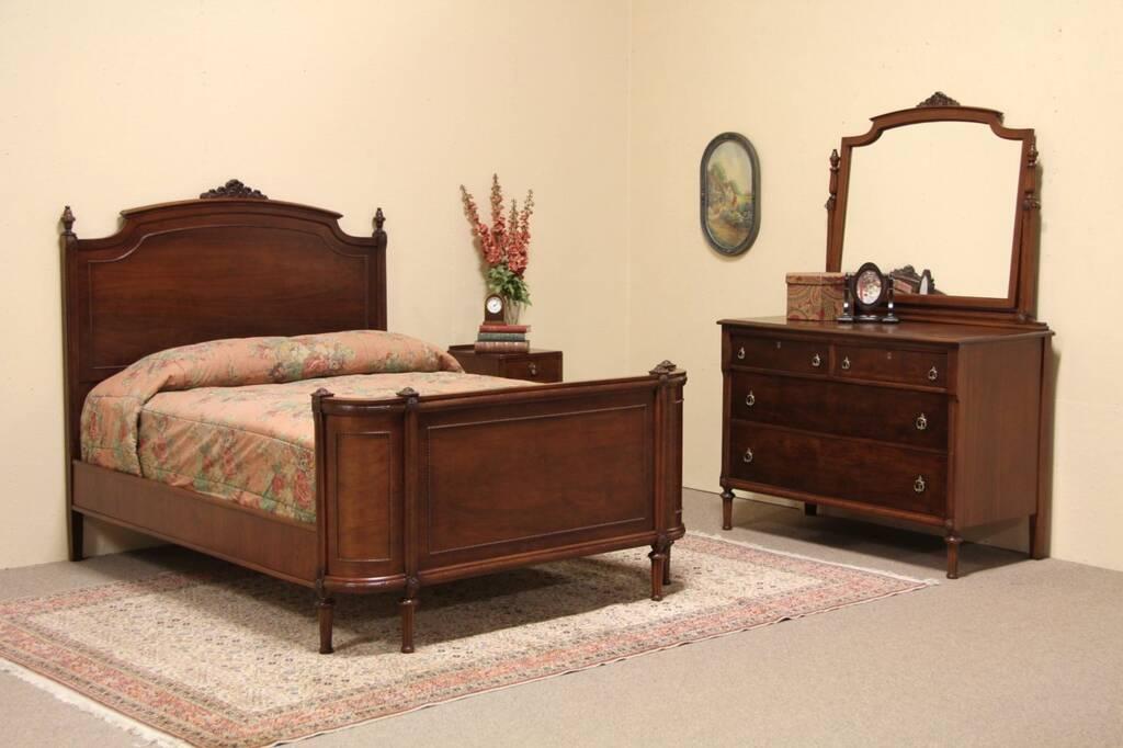 full bed dresser bedroom set harp gallery antique furniture