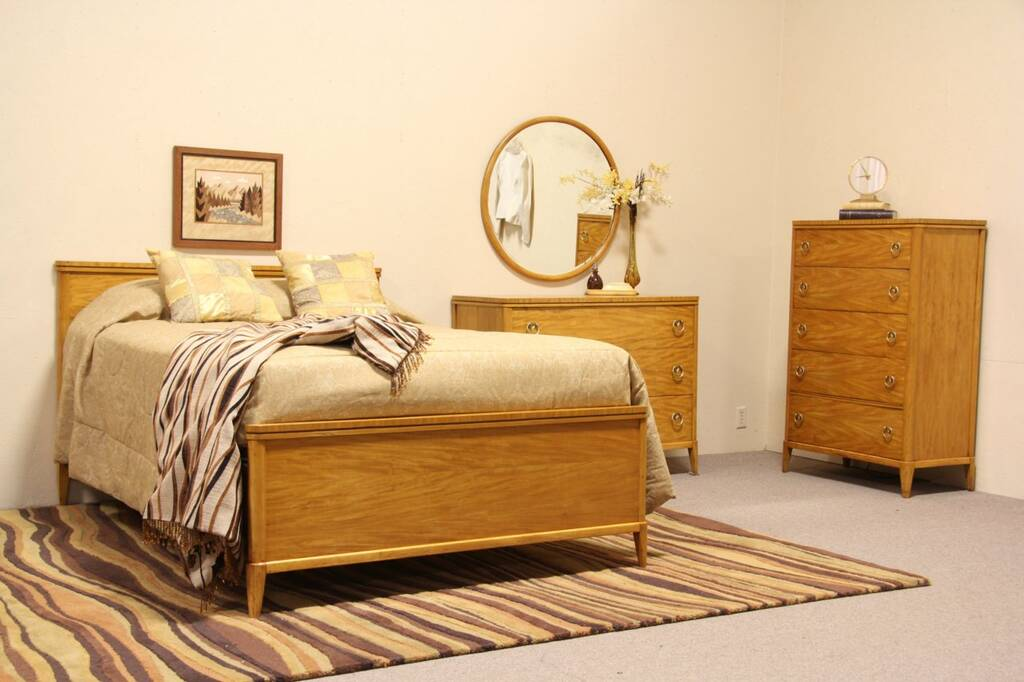 Midcentury Modern Full Size Vintage 3 Pc Bedroom Set EBay