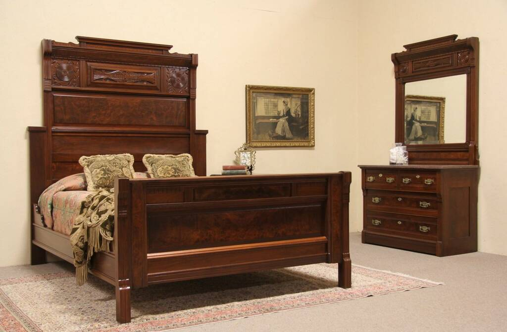 sold victorian eastlake 1880 bedroom set queen size bed