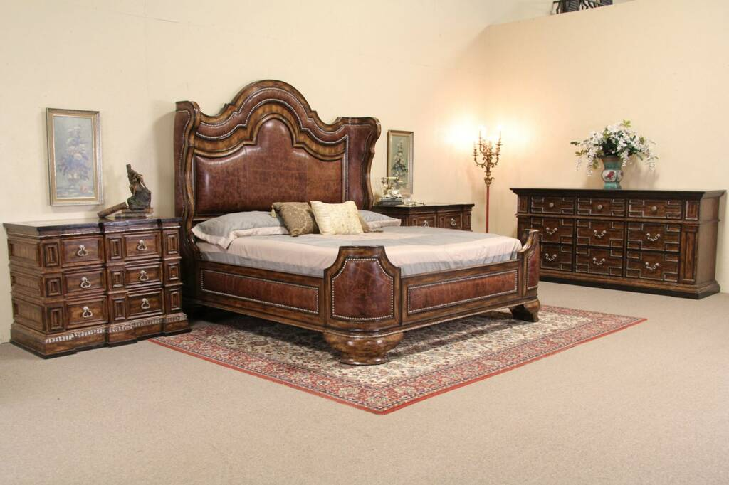 Sold Philippe Langdon Designer King Size 4 Pc Bedroom
