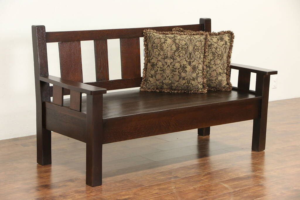 Large Bench in Arts and Crafts Style by RmcCustomWoodworks ...