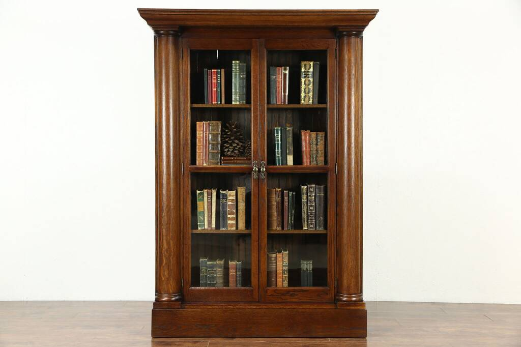 library bookcase with glass doors italian bookcase. Black Bedroom Furniture Sets. Home Design Ideas