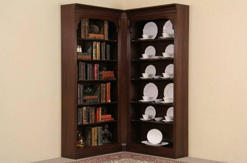 Ethan Allen Corner Cabinet: Ethan Allen Vintage Cherry Corner Bookcase