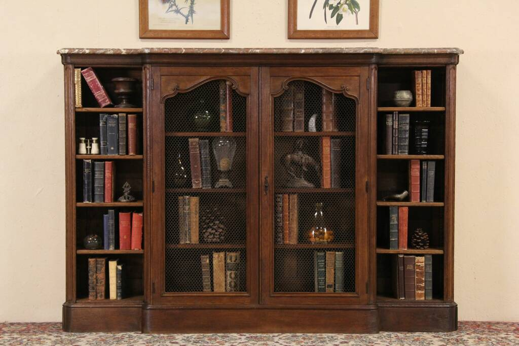 kitchen cabinets finishes sold 1890 s antique carved oak library bookcase 20375
