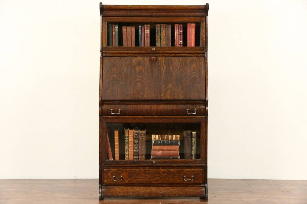 Sold Oak 1900 Antique Barrister Or Lawyer Stacking
