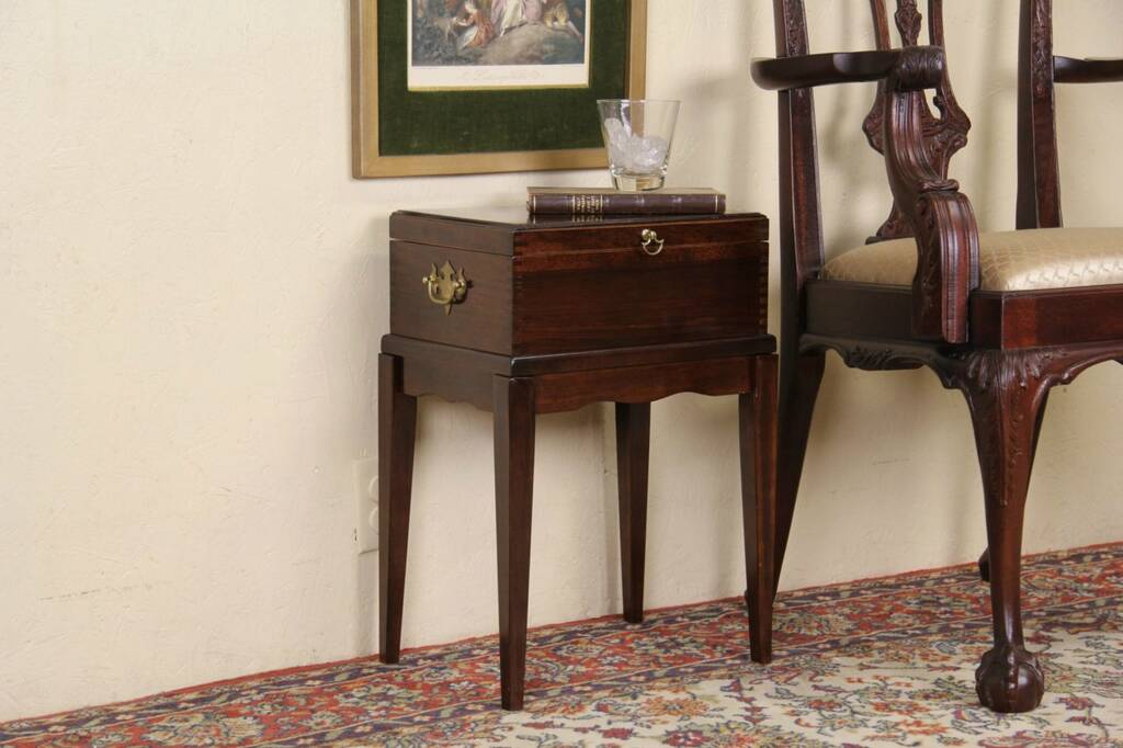 Sold Document Or Keepsake Box On Stand Chairside Table