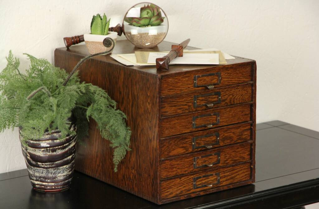 kitchen cabinets with drawers sold lawyer oak 1910 antique desk top file box harp 21408