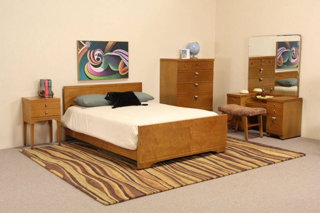 maple bedroom set 1950 39 s vintage harp gallery antique furniture