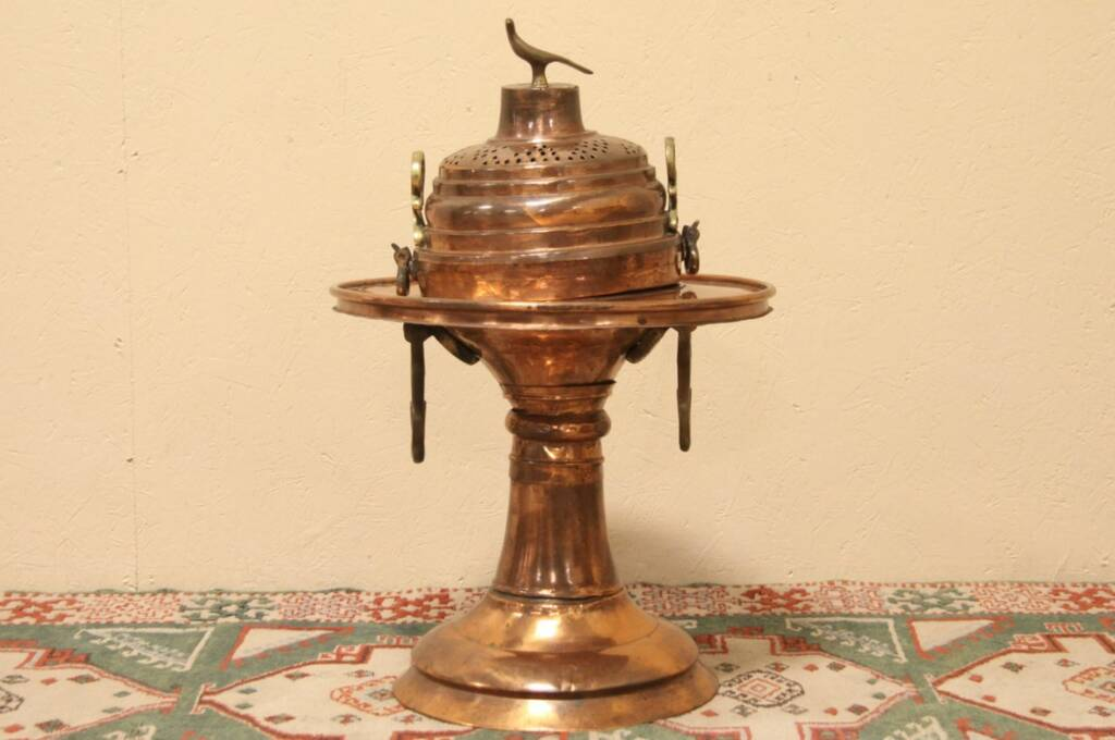 Sold Turkish Copper Brazier Or Charcoal Heater Harp