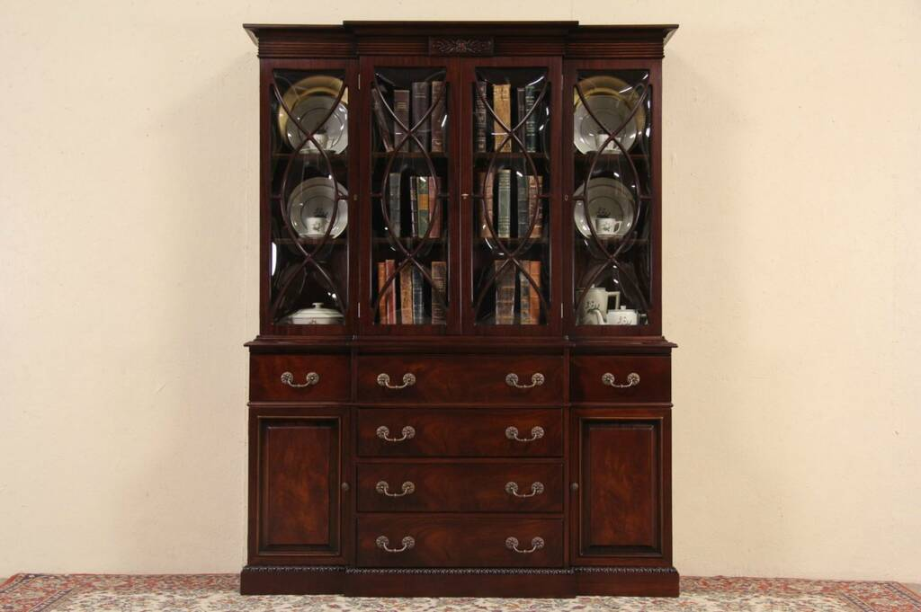 Sold Mahogany Traditional 1950 S Vintage Breakfront