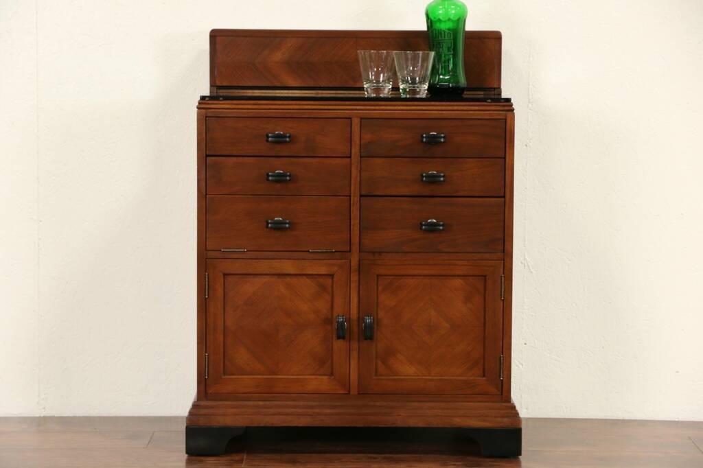 sold art deco 1930 39 s vintage doctor medical or bathroom cabinet signed allison harp gallery. Black Bedroom Furniture Sets. Home Design Ideas