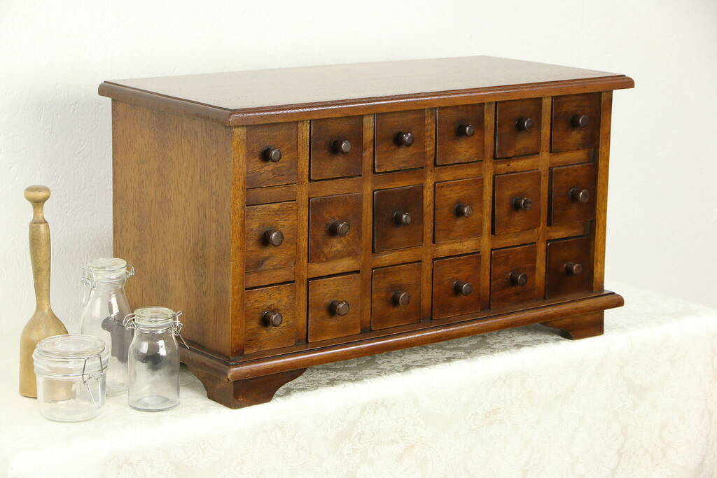 Apothecary Cabinet Vintage 18 Drawer Collector Or Jewelry