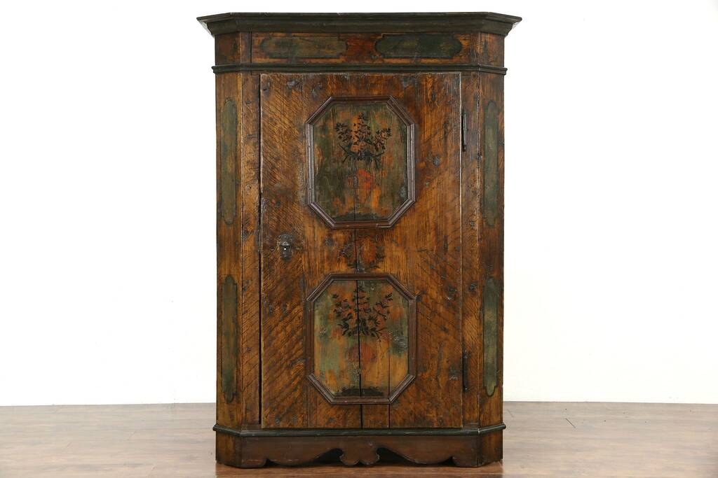 Mission Oak Armoire. Amish Bedroom Furniture American