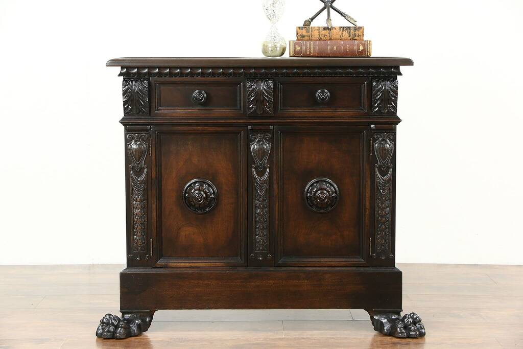 Sold Italian Antique Hall Console Cabinet Or Sideboard
