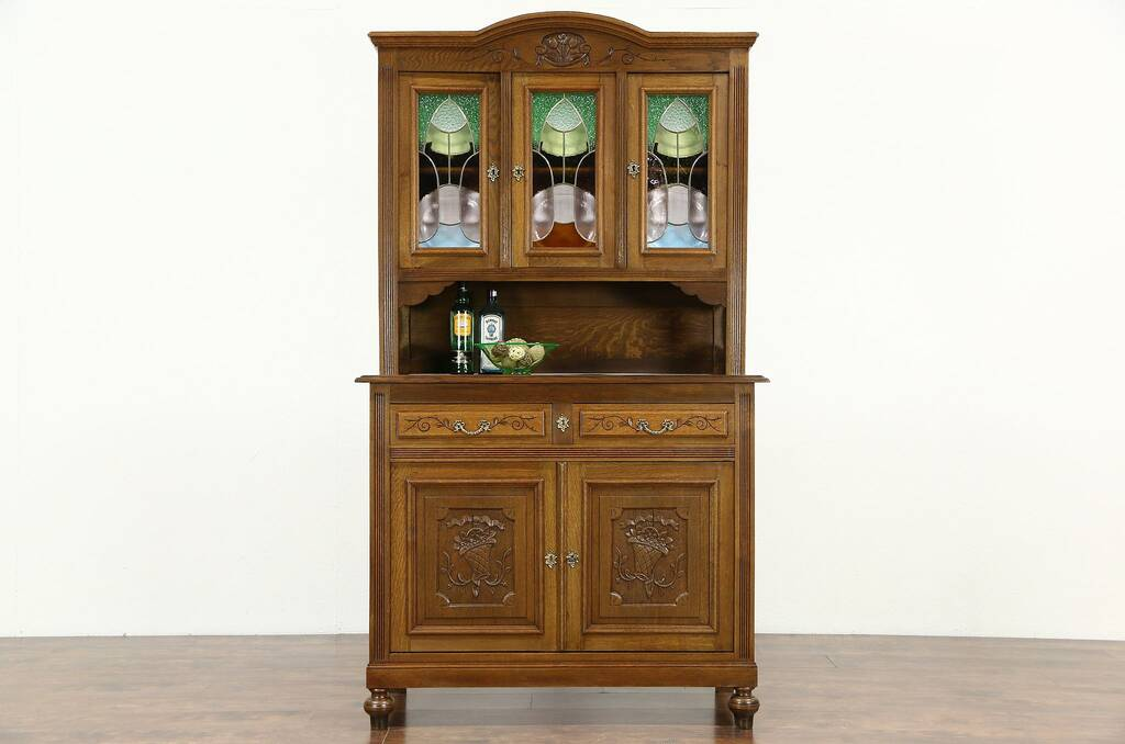 kitchen curio cabinet sold oak scandinavian 1910 antique sideboard amp china 1052