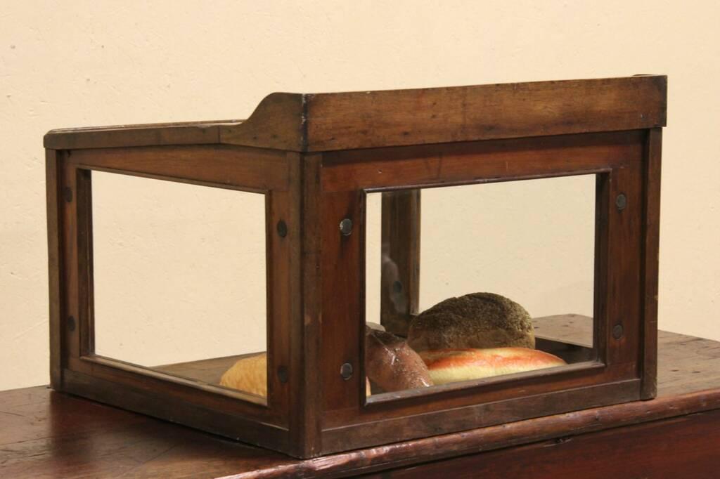 Sold countertop bakery pie display case desk harp Vintage countertop display case