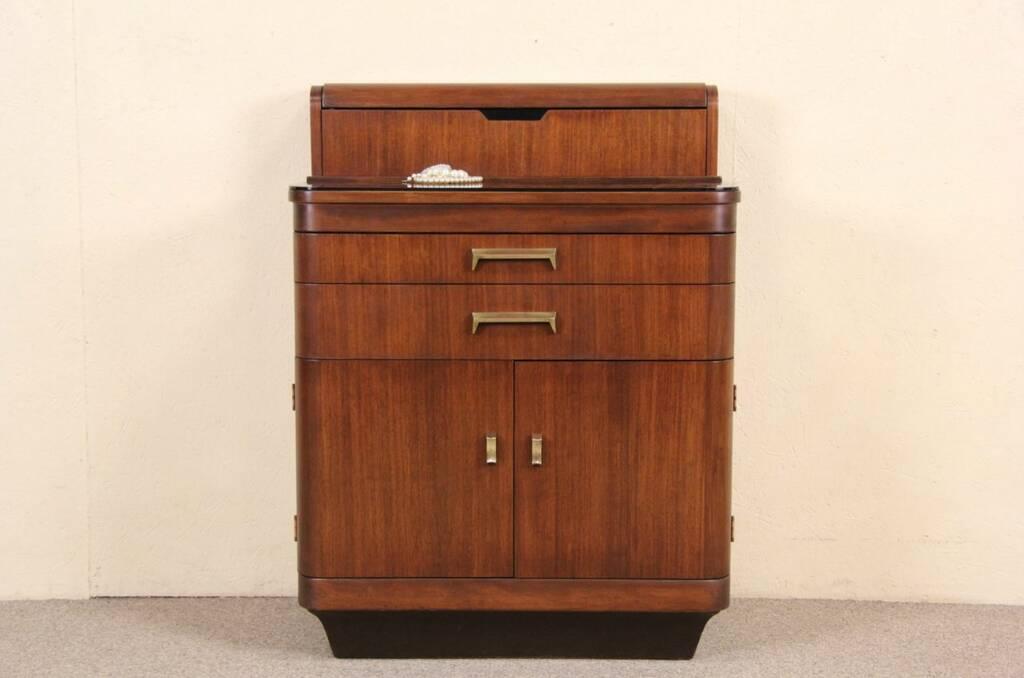 sold hamilton art deco 1940 39 s vintage medical dental or bath cabinet or bar harp gallery. Black Bedroom Furniture Sets. Home Design Ideas
