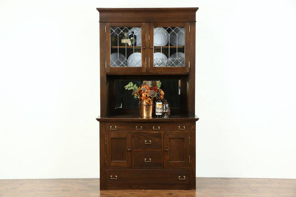 Sold Oak 1900 Antique Pantry Cabinet Sideboard Amp China