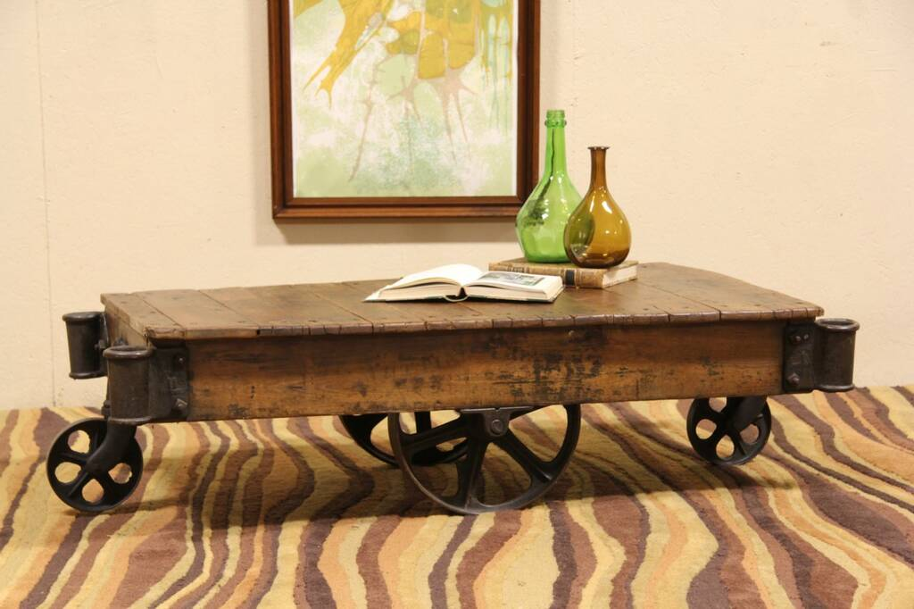 Railroad Cart Or Coffee Table Industrial 1900 39 S Antique Minnesota Ebay