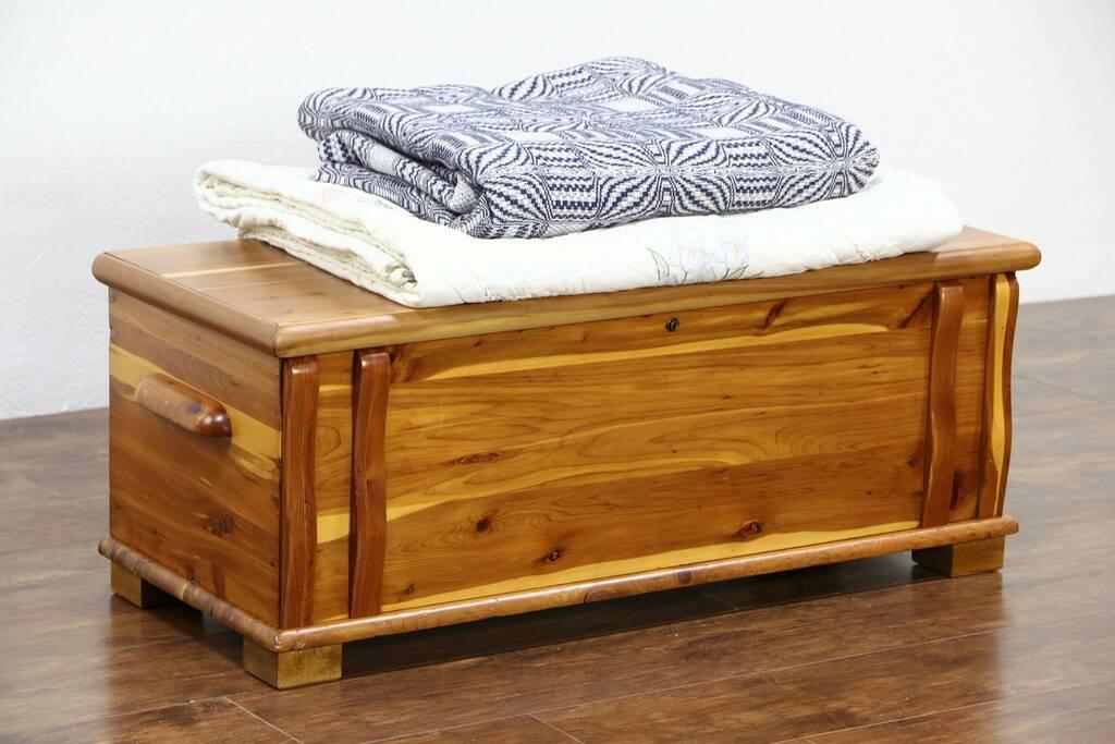 Sold Cedar Bench Trunk Or Hope Chest 1950 Vintage