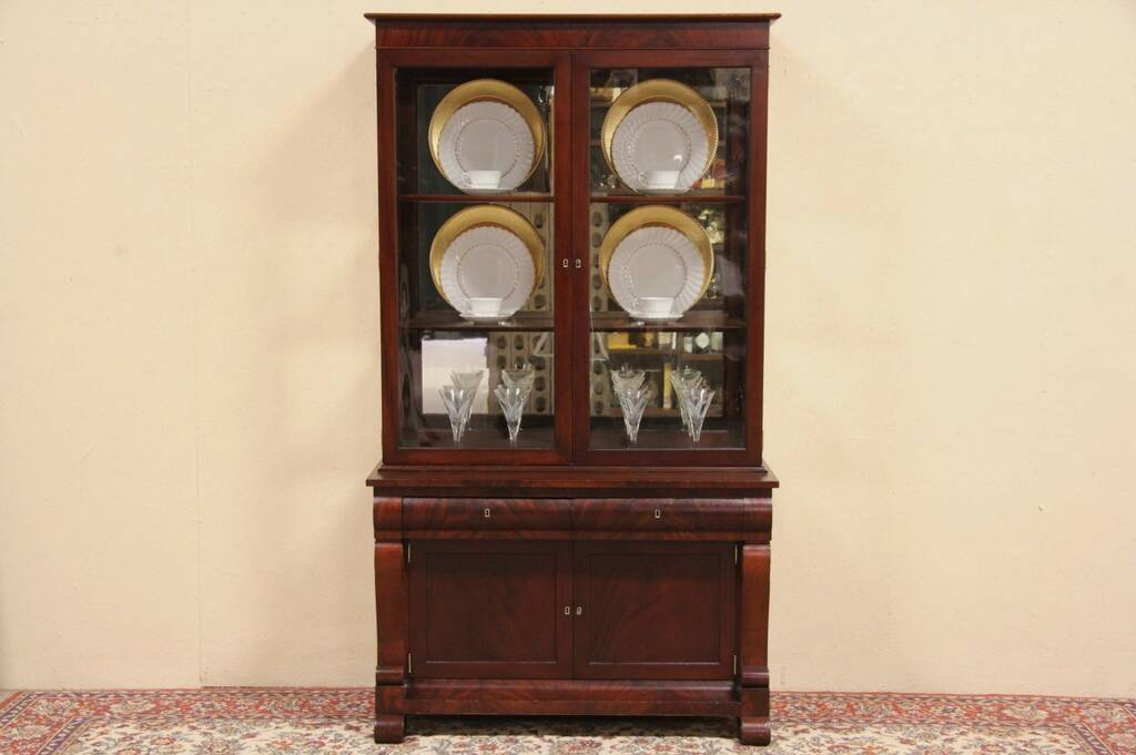 Sold Empire 1900 Antique China Display Cabinet Or