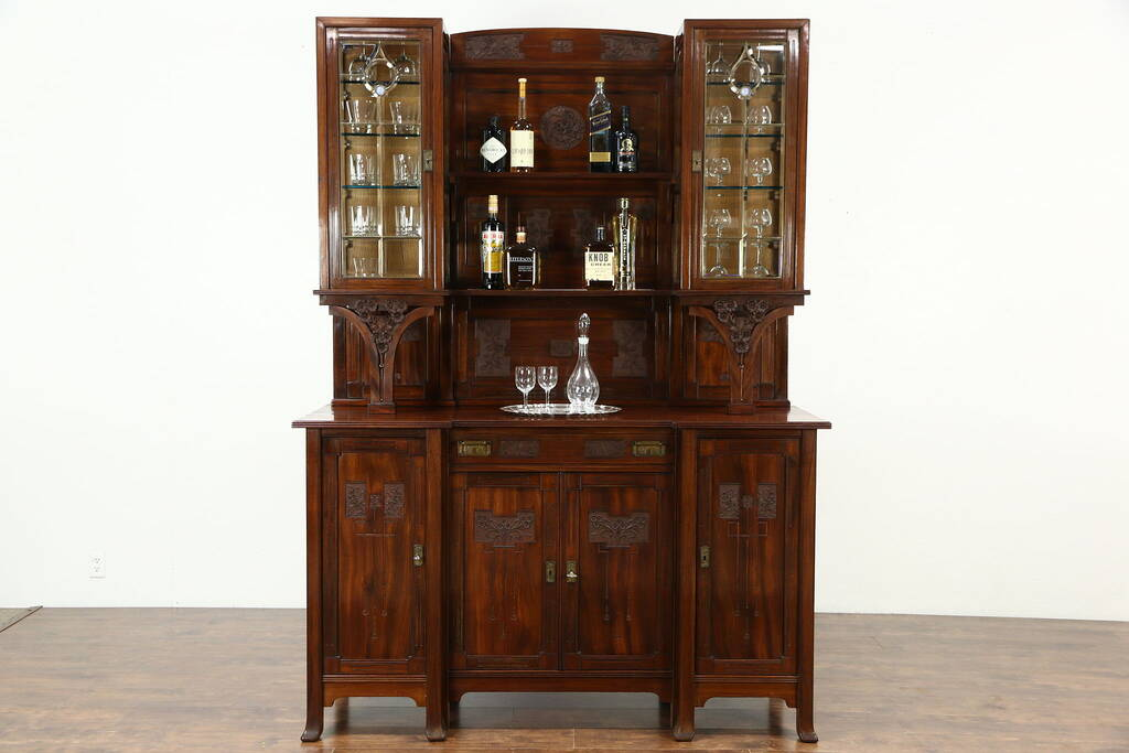 Sold Italian Antique 1925 Back Bar Or Sideboard Amp China