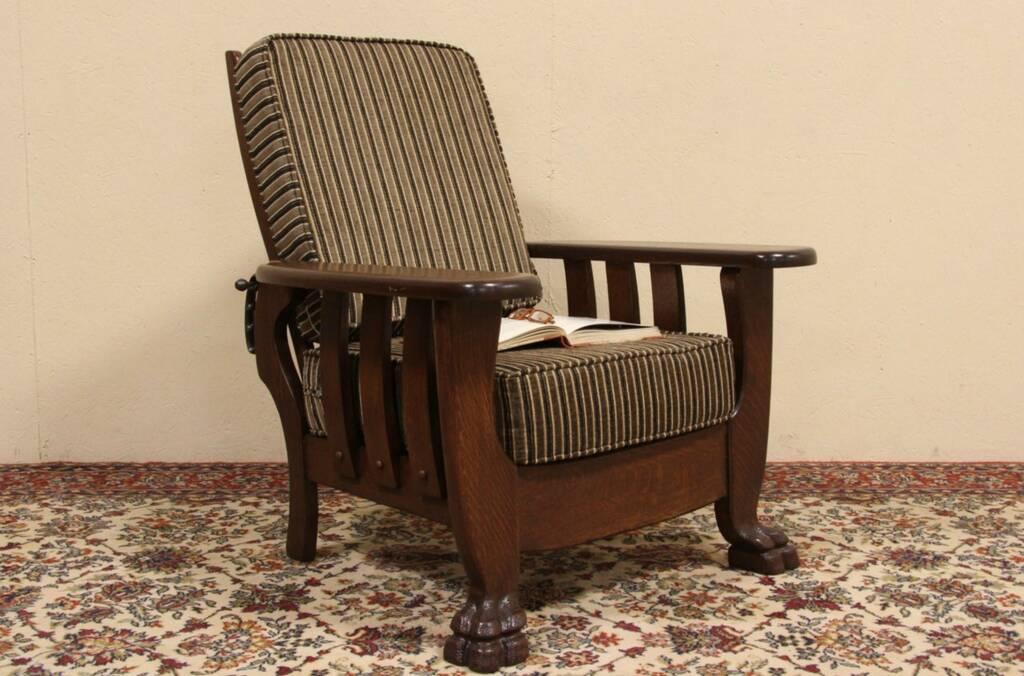 SOLD Oak 1900 Antique Morris Recliner Chair Harp  : 10241024cdchr2448re from harpgallery.com size 1024 x 676 jpeg 90kB