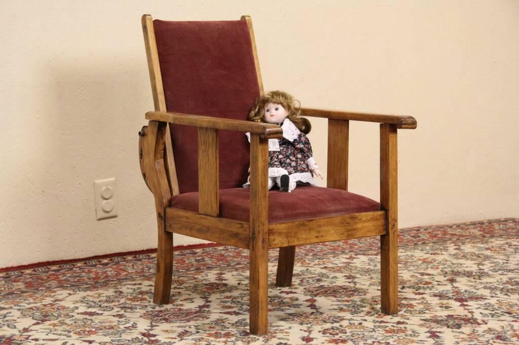 Sold Arts Amp Crafts Mission Oak Antique Child Size 1910