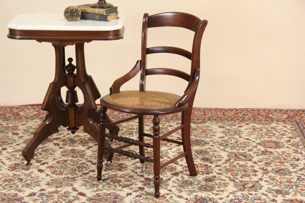 Sold Victorian Maple 1880 Side Or Dining Chair New Cane