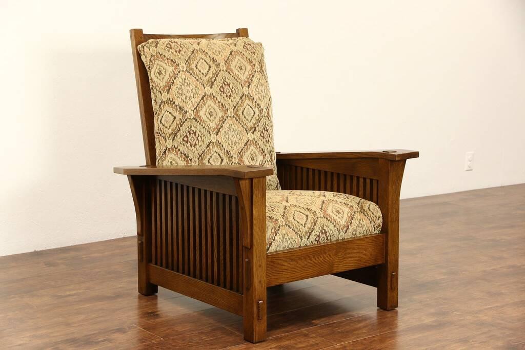 Sold Stickley Signed Craftsman Oak Vintage Morris