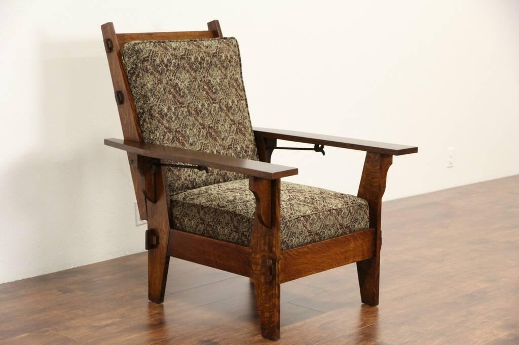 Sold Arts Amp Crafts Mission Oak Antique 1905 Morris Chair