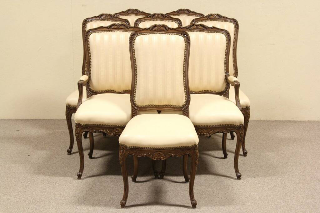 Set of 8 Country French Leather Trouvailles Dining Chairs  : 10241024cdchrs2737vin 10 from ebay.com size 1024 x 682 jpeg 70kB