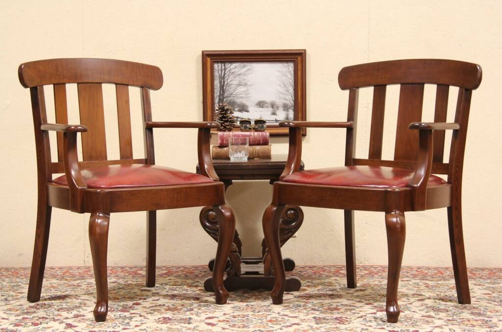 red leather vintage law office chairs harp gallery antique furniture