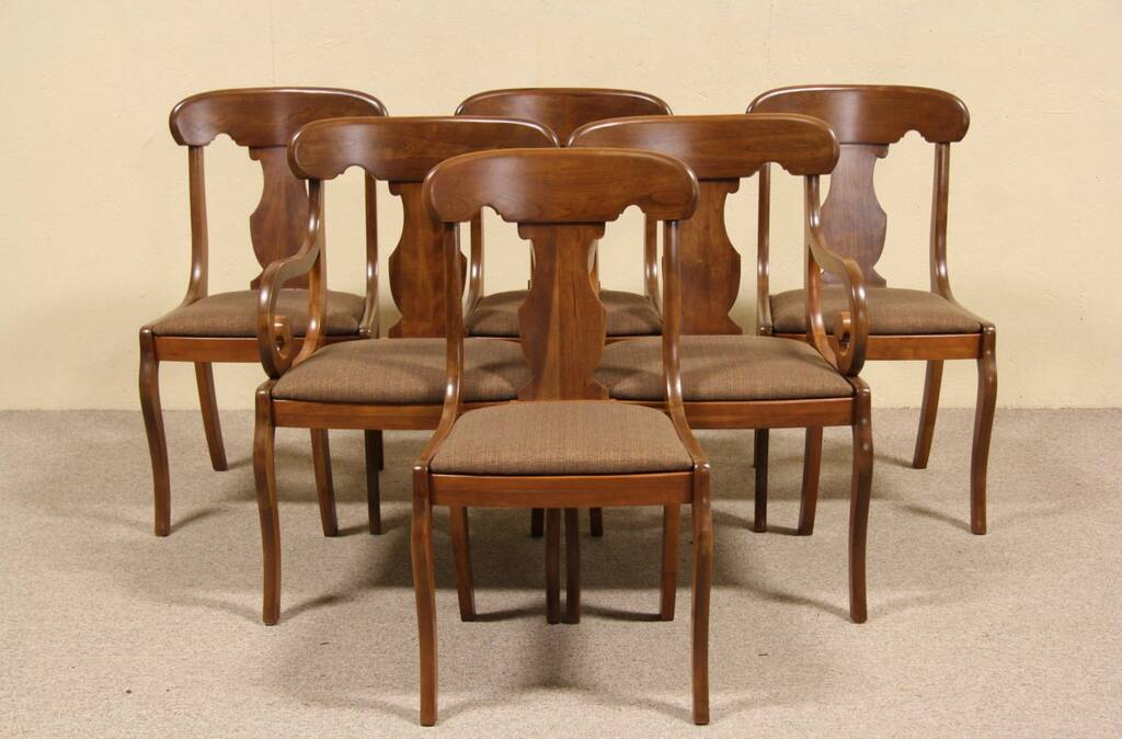 Set Of 6 Empire Cherry 1940 Vintage Dining Chairs Ebay