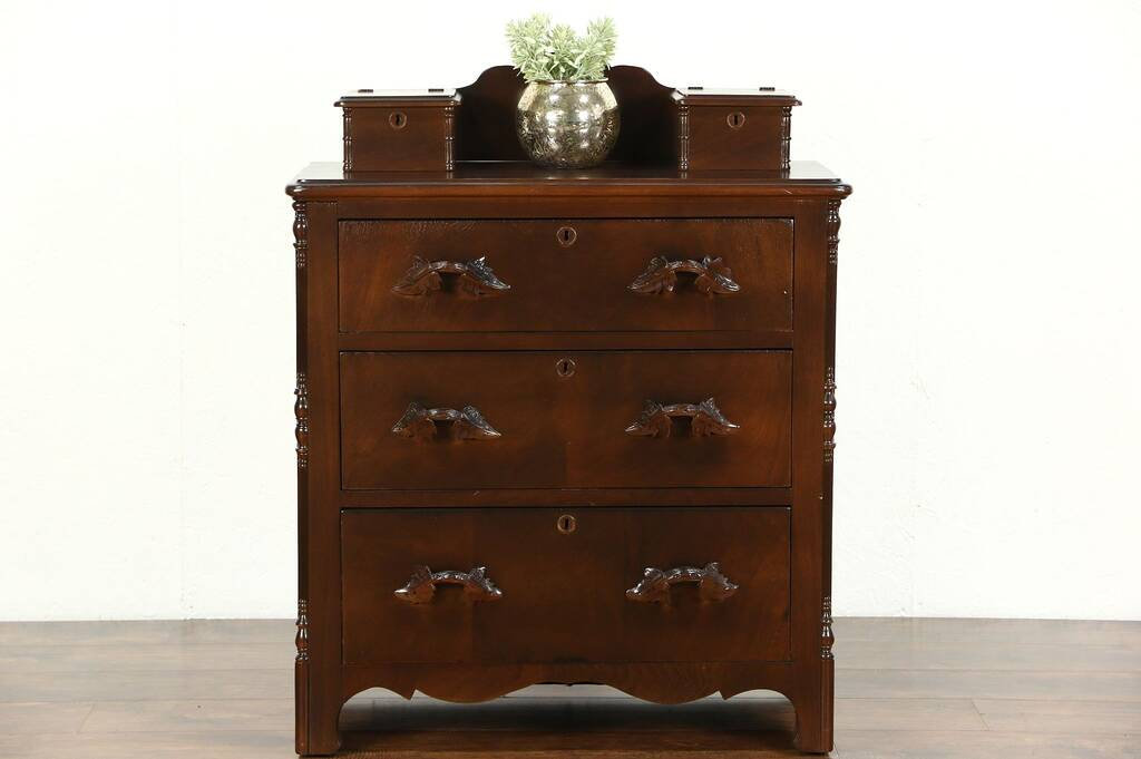 Sold Victorian 1860 S Antique Walnut Chest Or Dresser