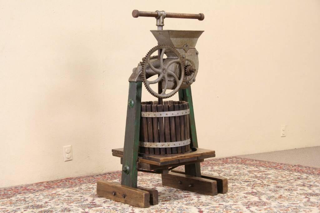Sold Wine Cider Or Juice Press Iron Amp Wood 1900 S