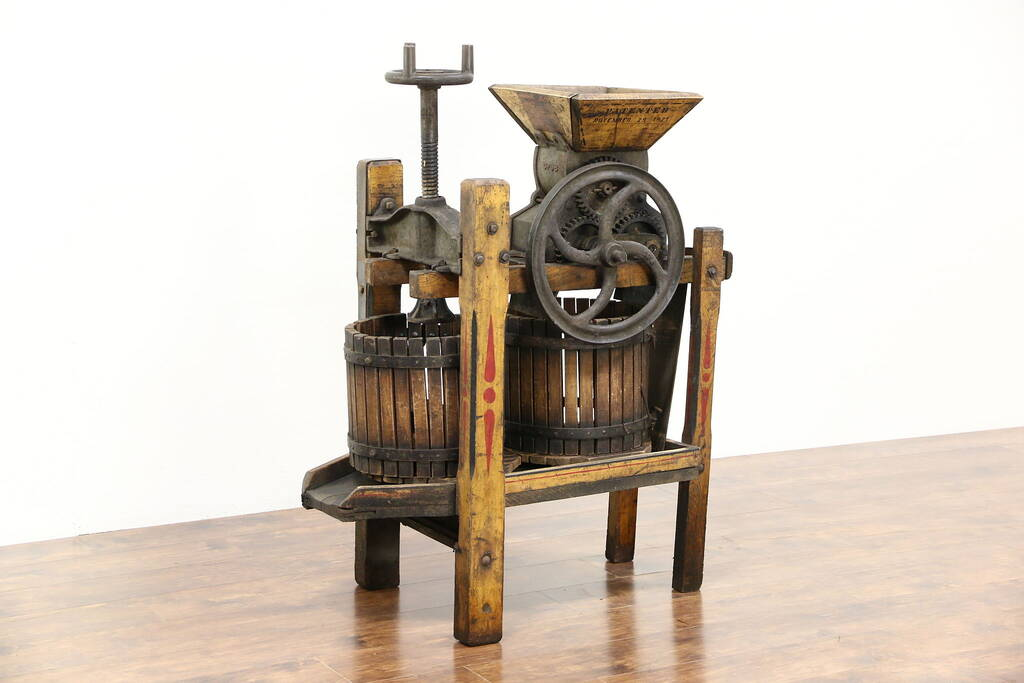 Sold Apple Cider Or Wine Press Standard Medium 1900