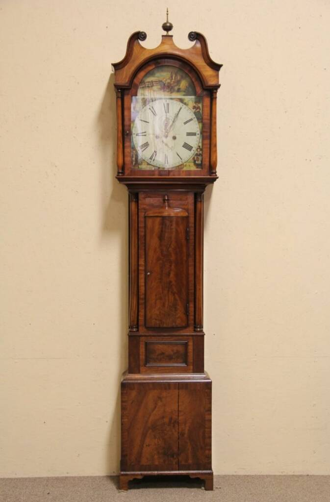 Sold Scottish Tall Or Long Case 1850 Antique Grandfather